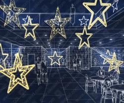"""Светодиодная 2D-фигура """"Сияющая звезда""""_1"""