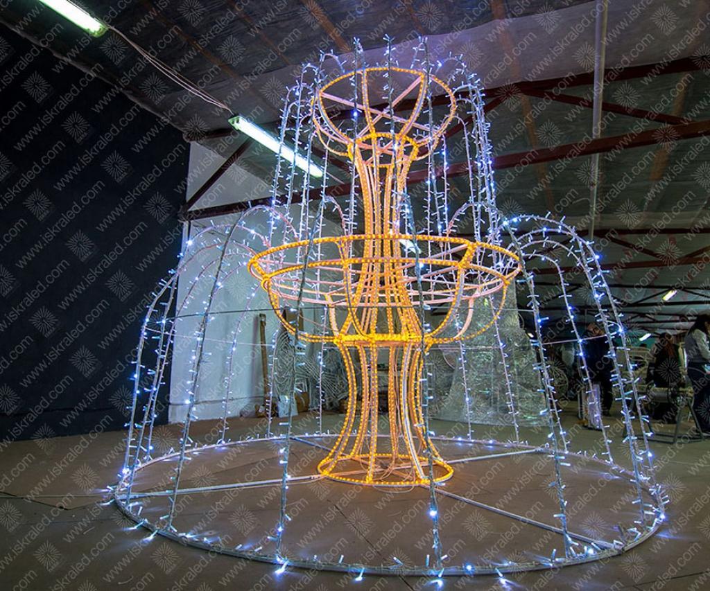 Светодиодный фонтан Каскад из водопадов