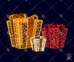 """Светодиодная 3D-композиция """"Новогодние подарки"""""""