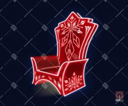 """Светодиодная 3D-фигура """"Красный трон"""""""