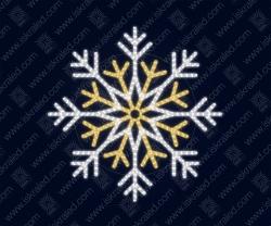 """Светодиодная 2D-фигура """"Снежинка двойная"""""""