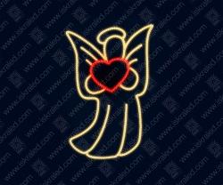 """Светодиодная 2D-фигура """"Ангел любви"""""""