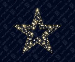 """Светодиодная 2D-фигура """"Памятная звезда"""""""