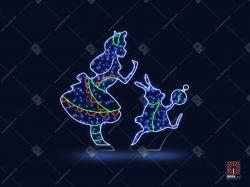 """Светодиодная 2D-фигура """"Алиса в Cтране чудес"""""""