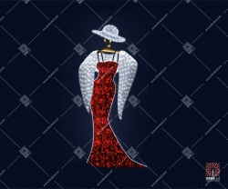 """Светодиодная 2D-фигура """"Красная дама"""""""