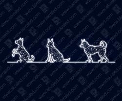 """Светодиодная 2D-фигура """"В собачьей упряжке..."""""""