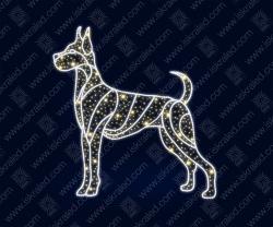 """Светодиодная 2D-фигура """"Сторожевой пес"""""""