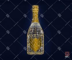 """Светодиодная 3D-фигура """"Шампанское"""" 3,0 м"""