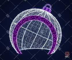 """Светодиодная 3D-фигура шар """"Волчья ягода"""""""