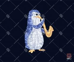 """Светодиодная 3D-фигура """"Пингвин с трубой"""""""