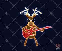 """Светодиодная 2D-фигура """"Олень с гитарой"""""""