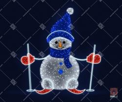 """Светодиодная 3D-фигура """"Снеговик на лыжах"""""""