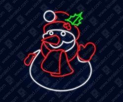 """Светодиодная 2D-фигура """"Снеговик"""""""