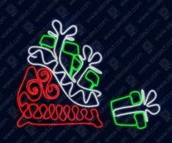 """Светодиодная 2D-фигура """"Мешок с подарками"""""""