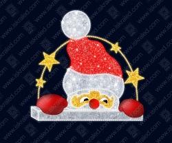 """Светодиодная 2D-фигура """"Выглядывающий Санта"""""""