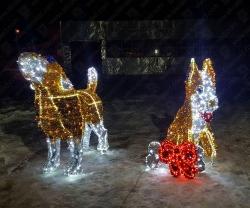 """Светодиодная 3D-фигура """"Подарок для друга""""_1"""