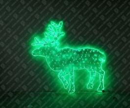 """Светодиодная 2D-фигура """"Северный олень""""_2"""
