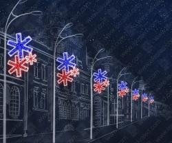 """Светодиодная консоль """"Первый снег""""_1"""