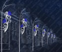 """Светодиодная консоль """"Синий цветок""""_1"""