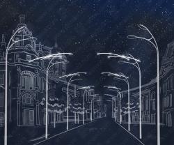 """Светодиодный подвес """"Штрихи в ночном небе""""_1"""