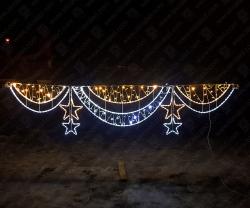 """Светодиодный подвес """"Звездный занавес""""_2"""