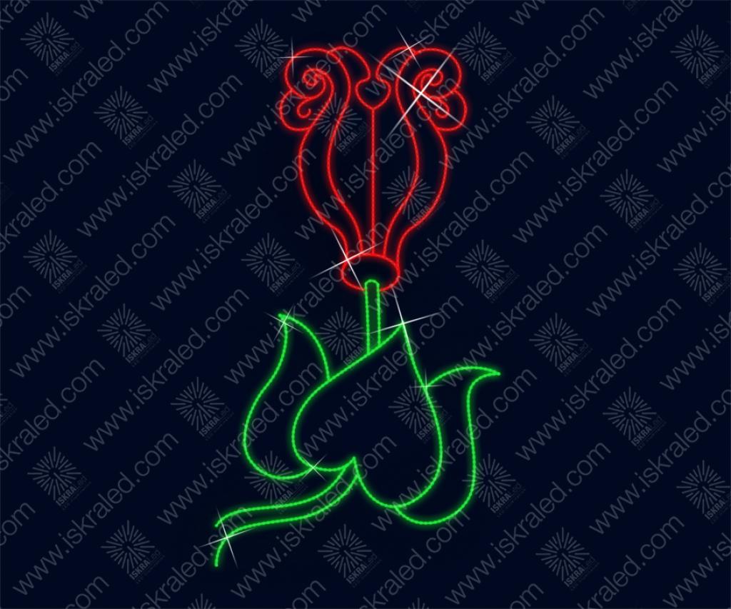 """Светодиодная консоль """"Красный тюльпан"""""""