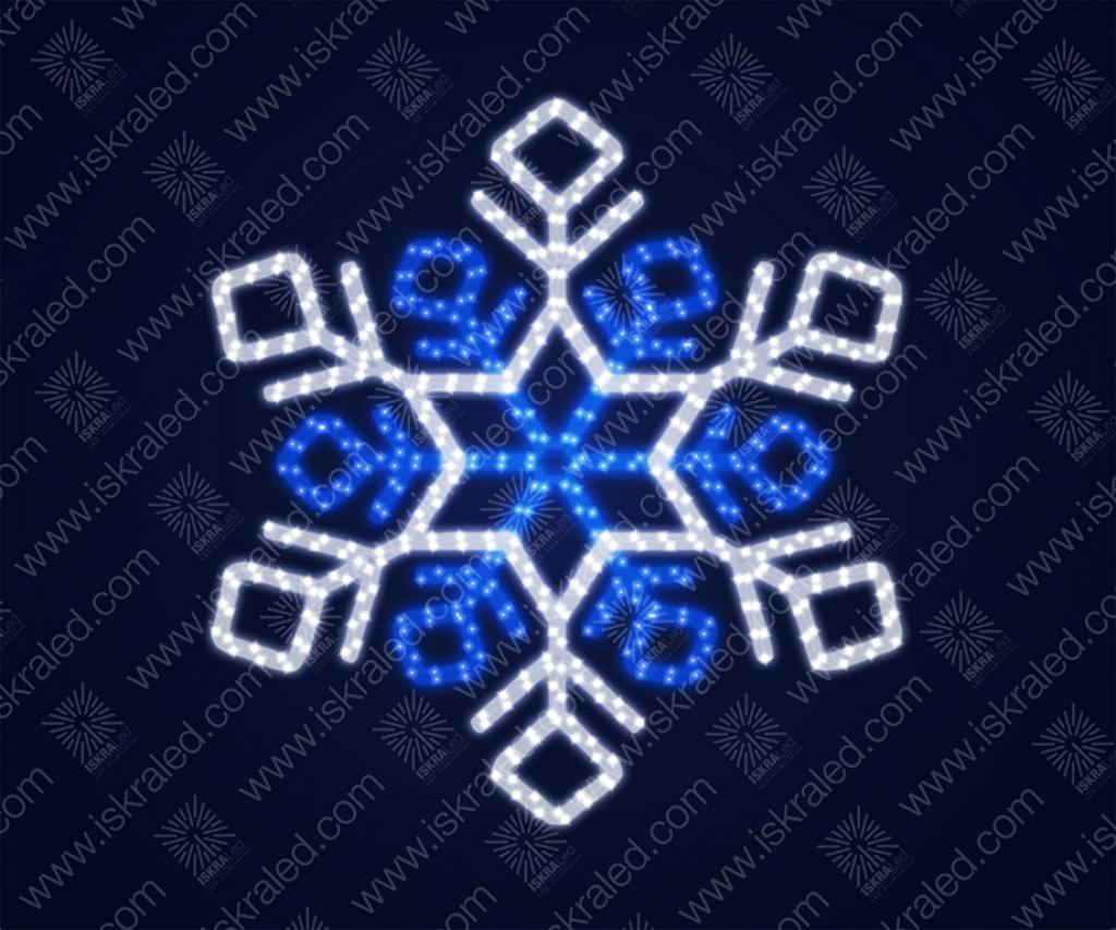 """Светодиодная 2D-фигура """"Снежинка кристалы"""""""