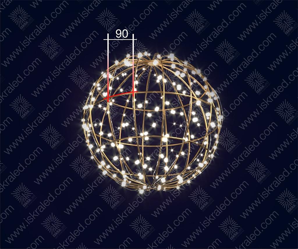 """Светодиодная 3D-фигура """"Шар""""- 90"""