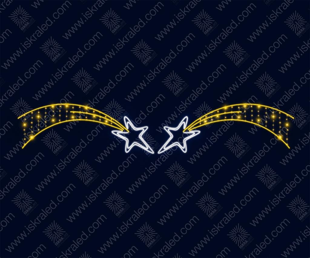 """Светодиодный подвес """"Две звезды"""""""
