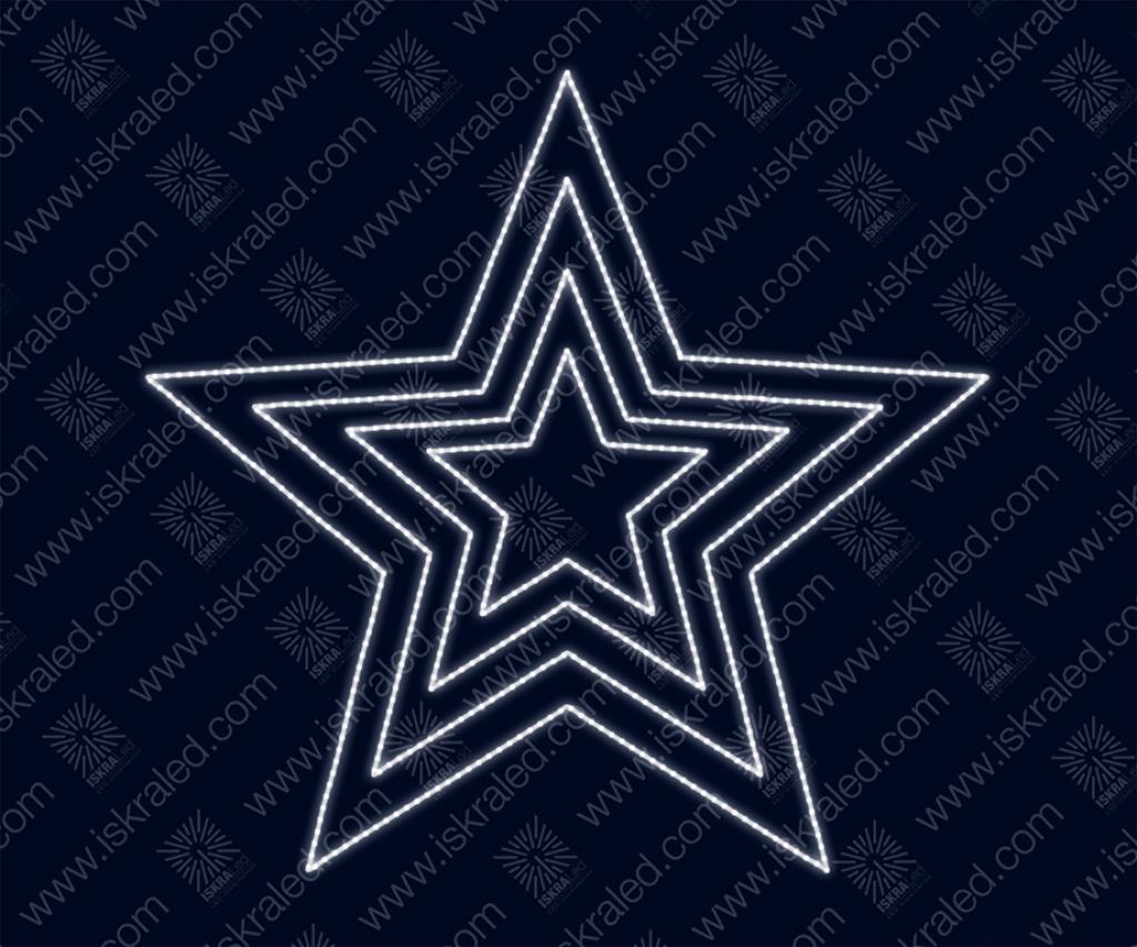 """Светодиодная 2D-фигура """"Звезда в 4 контура"""""""