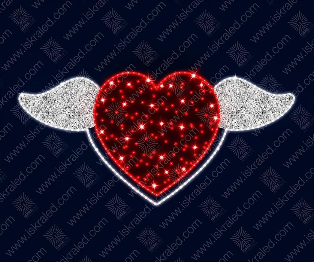 """Светодиодная 2D-фигура """"На крыльях любви"""""""