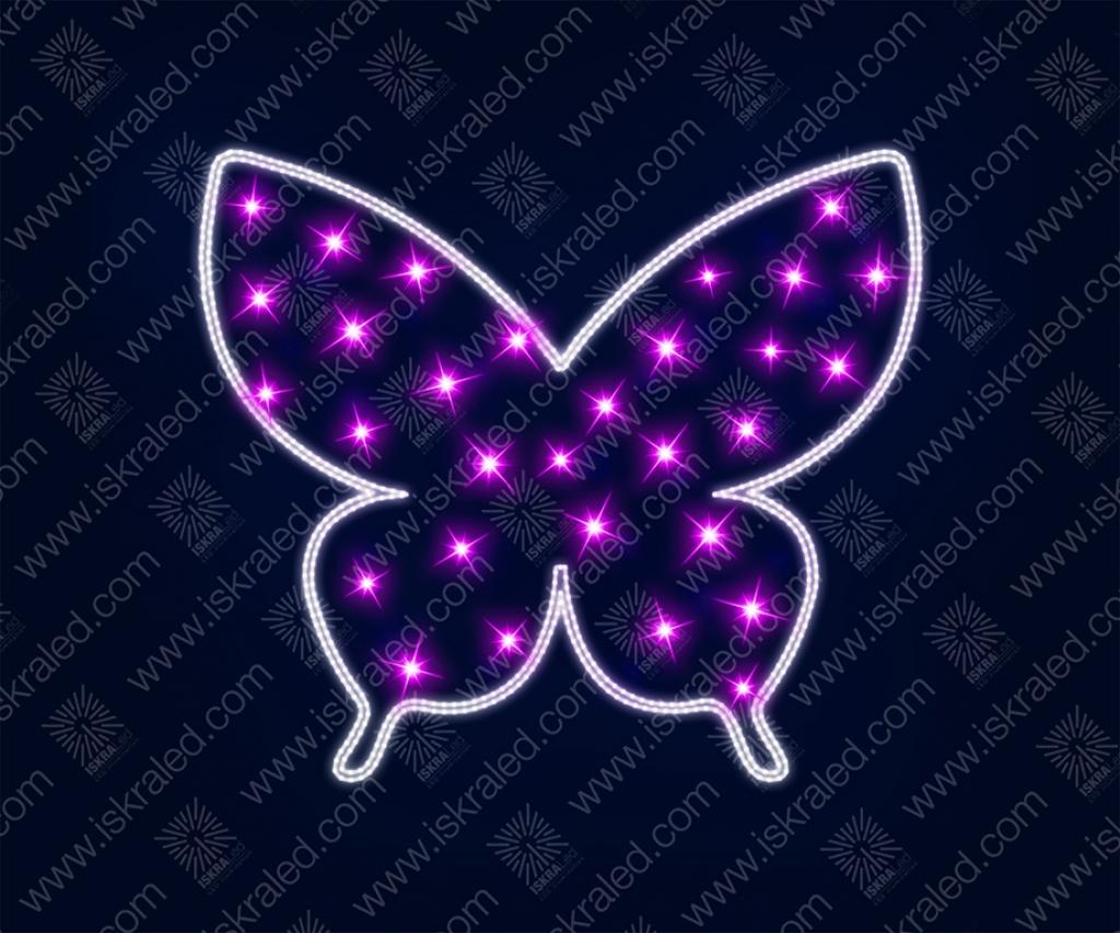 """Светодиодная 2D-фигура """"Пурпурный мотылек"""""""