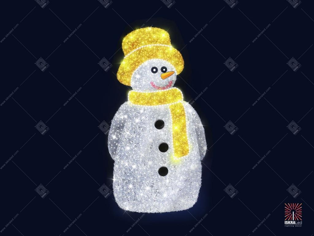 """Светодиодная 3D-фигура """"Братец-снеговик"""""""