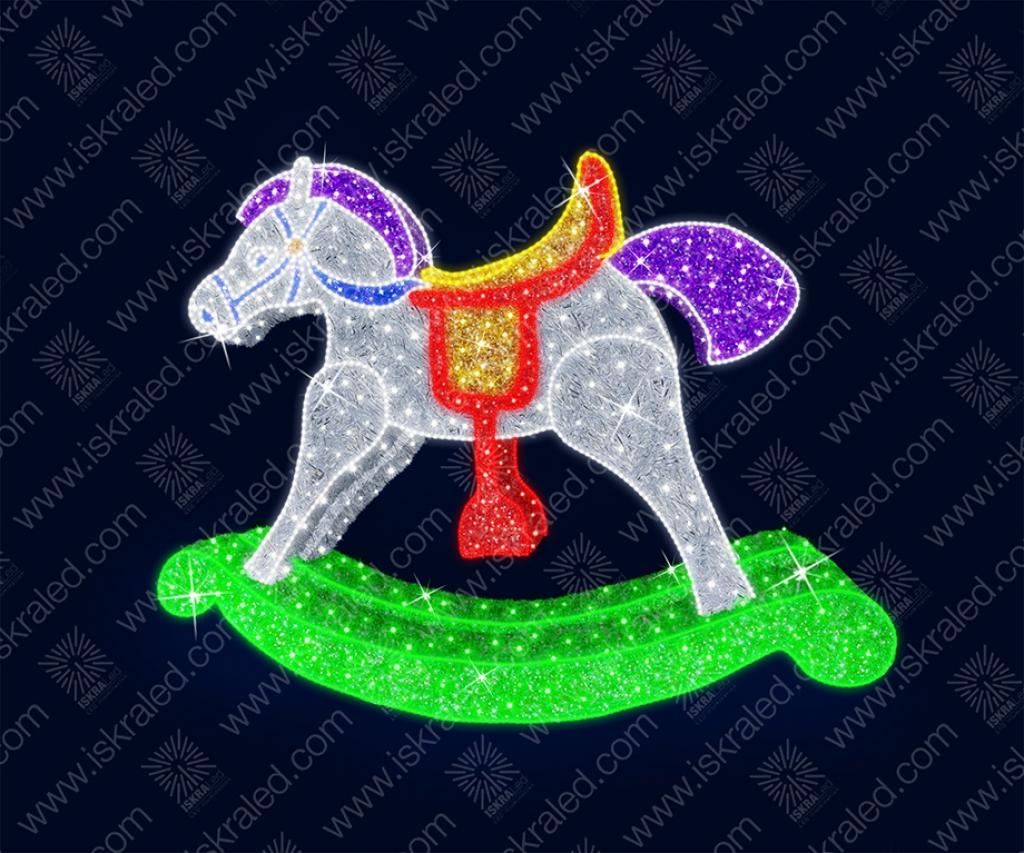 """Светодиодная 3D-фигура """"Лошадка-качалка"""""""