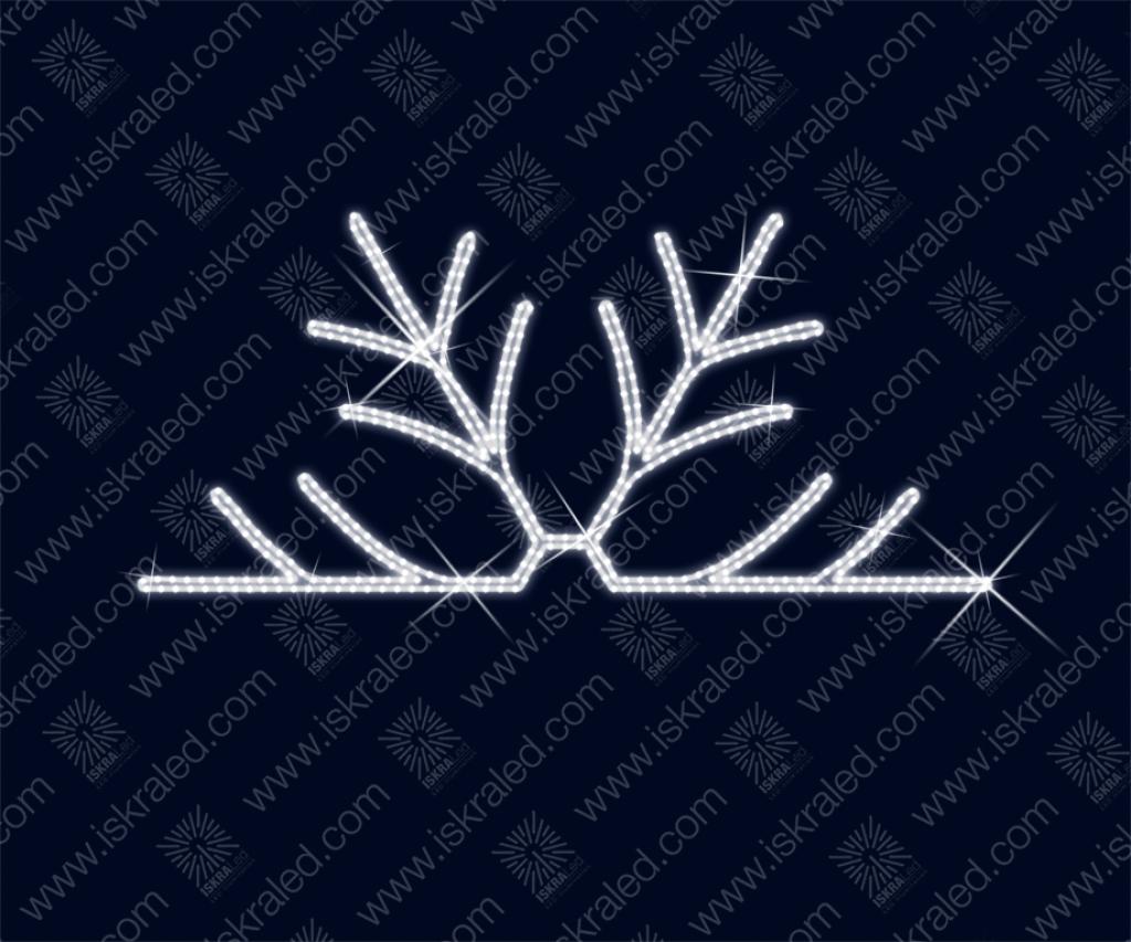 """Светодиодная 2D-фигура """"Выглядывающая снежинка"""""""