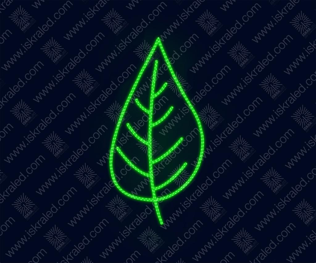 """Светодиодная 2D-фигура """"Изумрудный листок"""""""