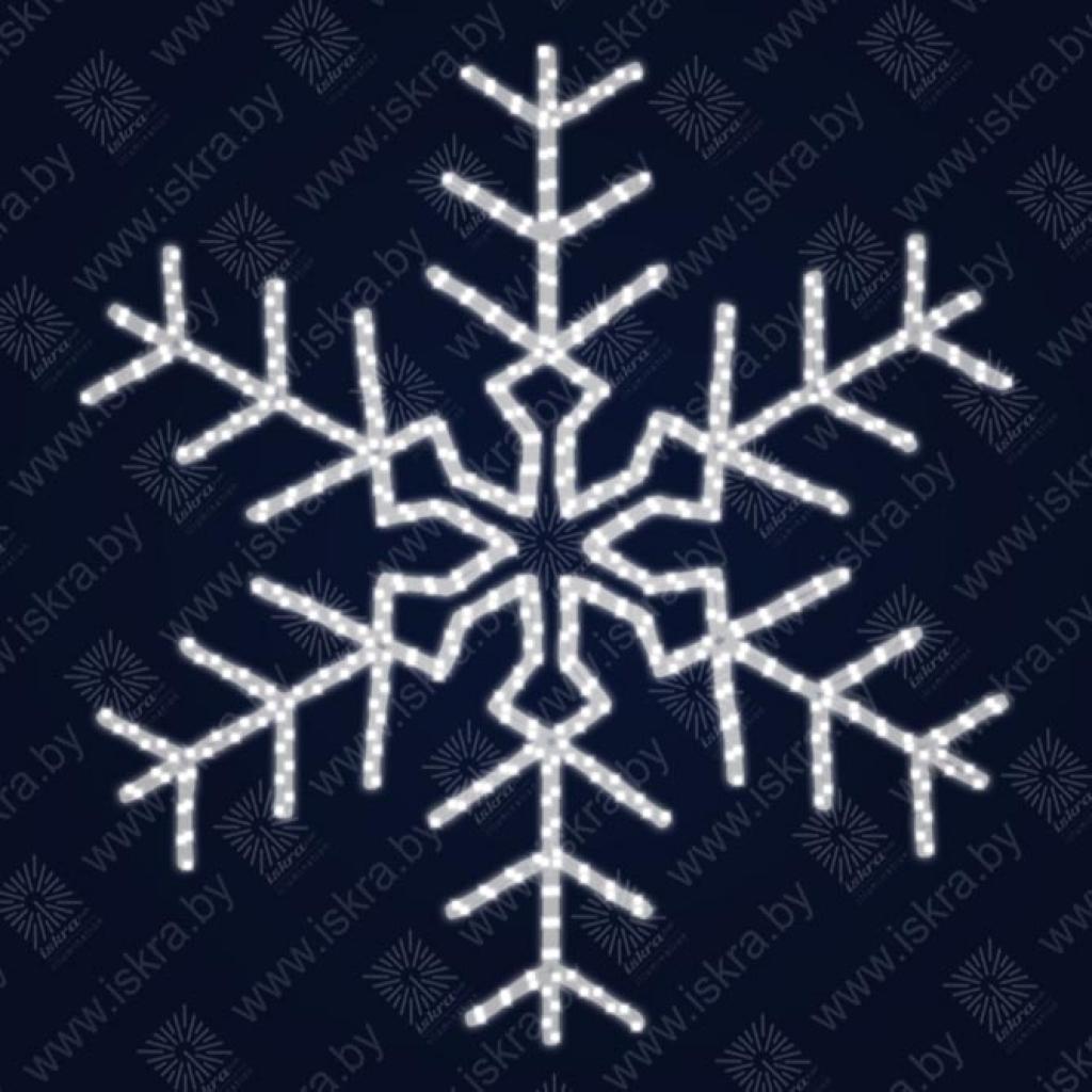 """Светодиодная 2D-фигура """"Снежинка сложная"""""""
