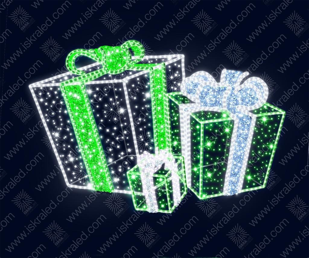 """Светодиодная 3D-фигура """"Подарок"""""""