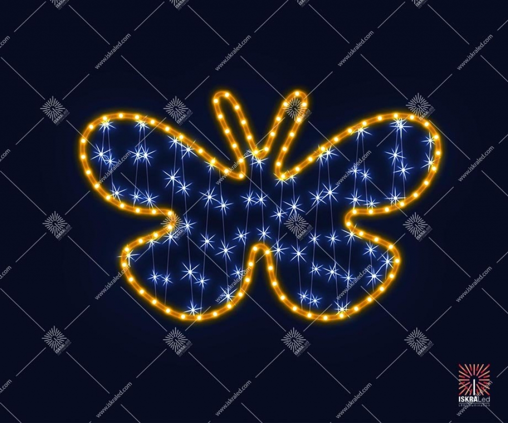 Светодиодная 2D-фигура Бабочка