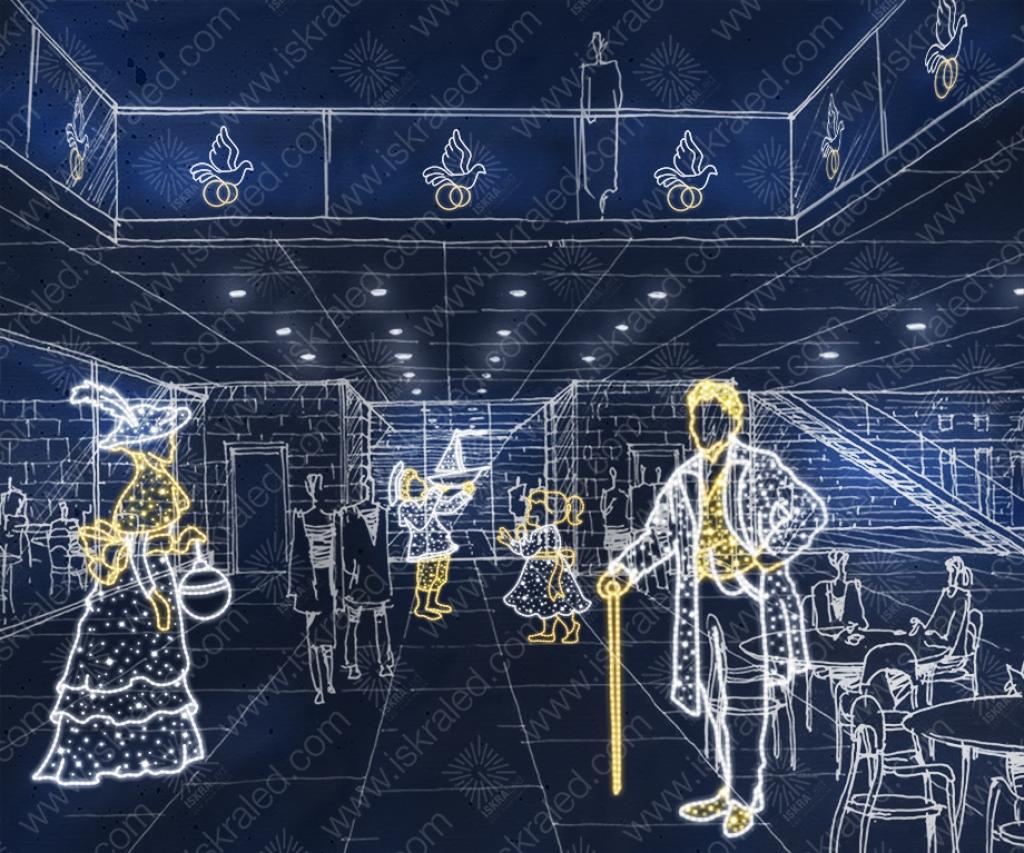 Светодиодная 2D-фигура Барышня