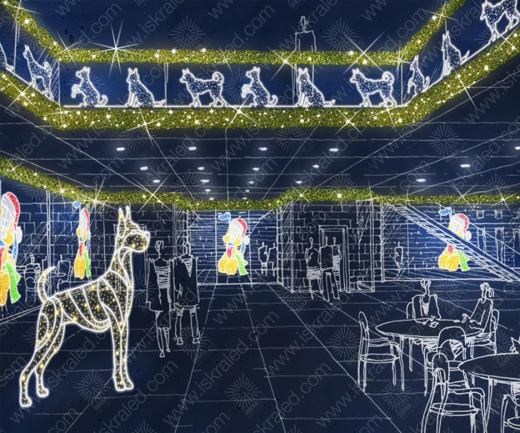 Светодиодная 2D-фигура Сторожевой пес
