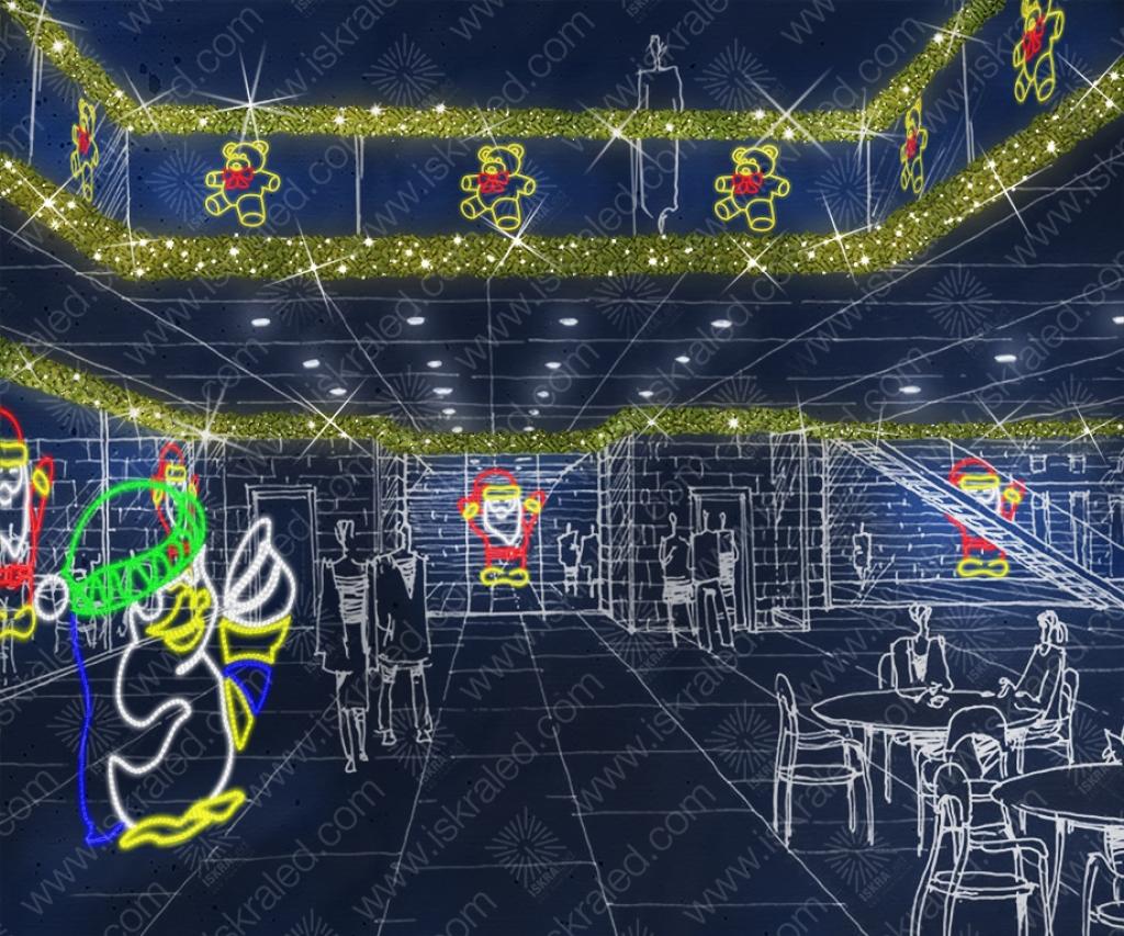 "Светодиодная 2D-фигура ""Санта-Клаус"" E144"