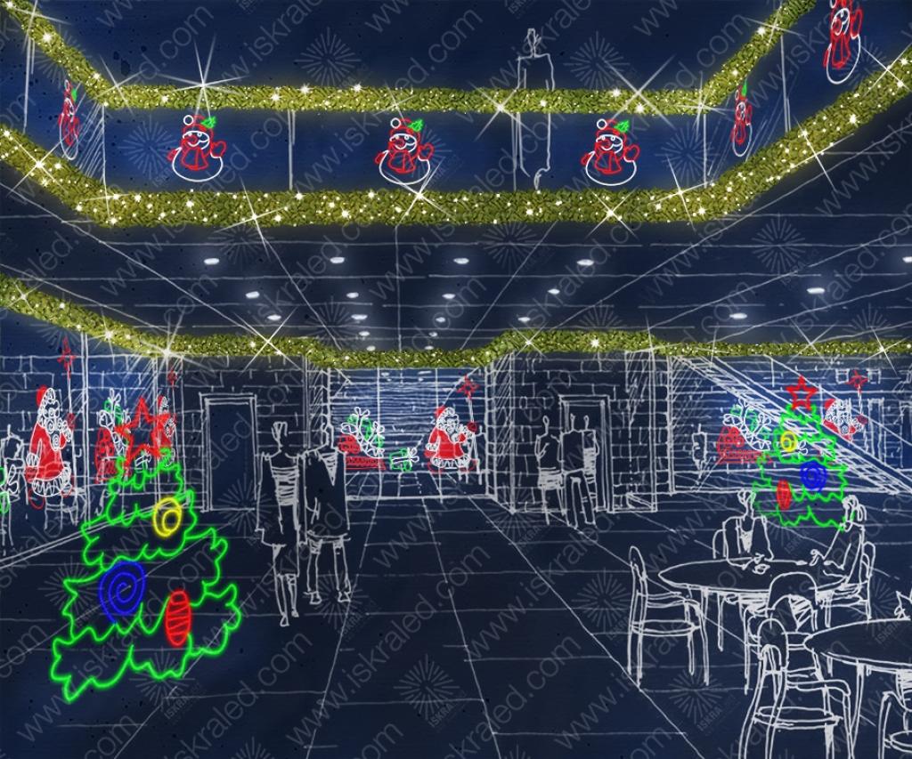 """Светодиодная 2D-фигура """"Новогодняя ель"""" E145"""