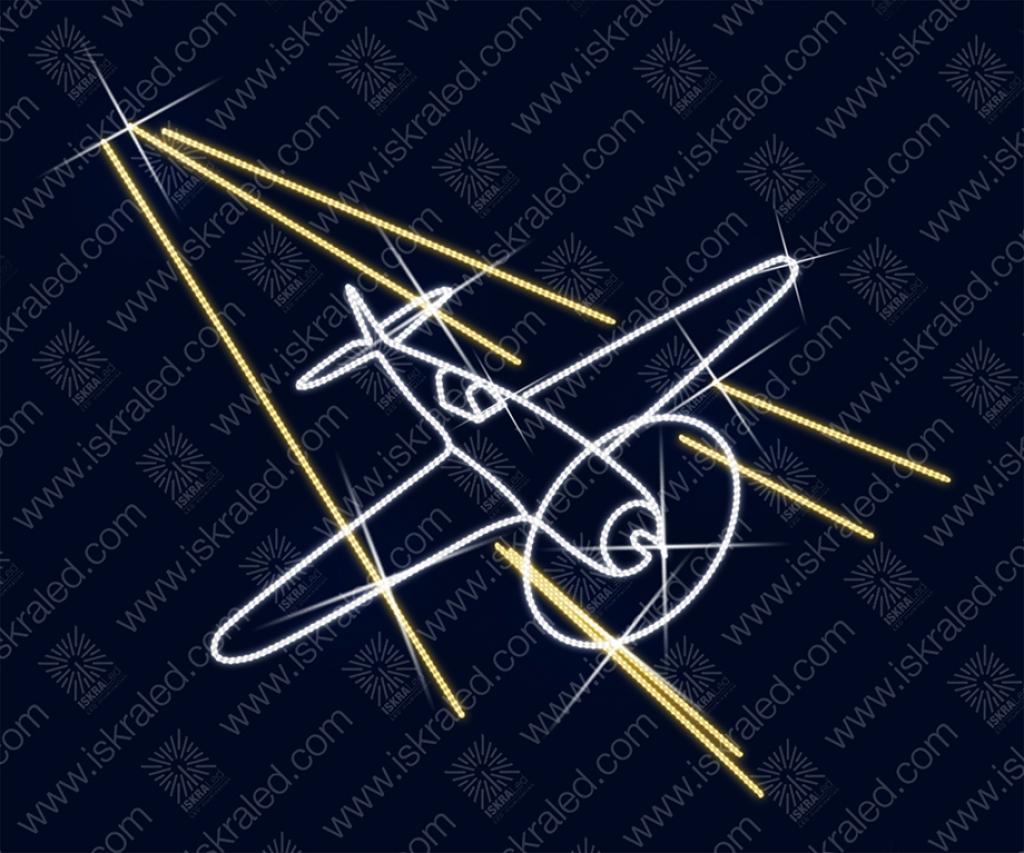 Светодиодная 2D-фигура Бомбардировщик У-2