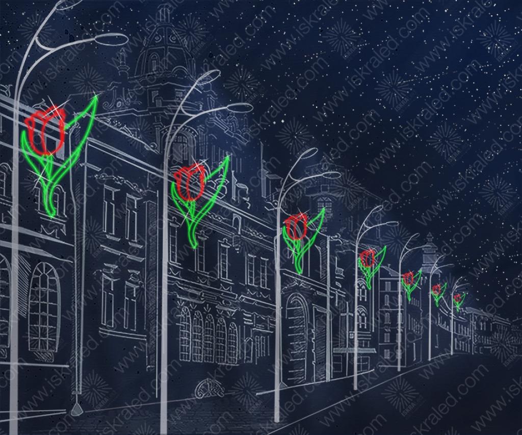 Светодиодная консоль Алый цветок