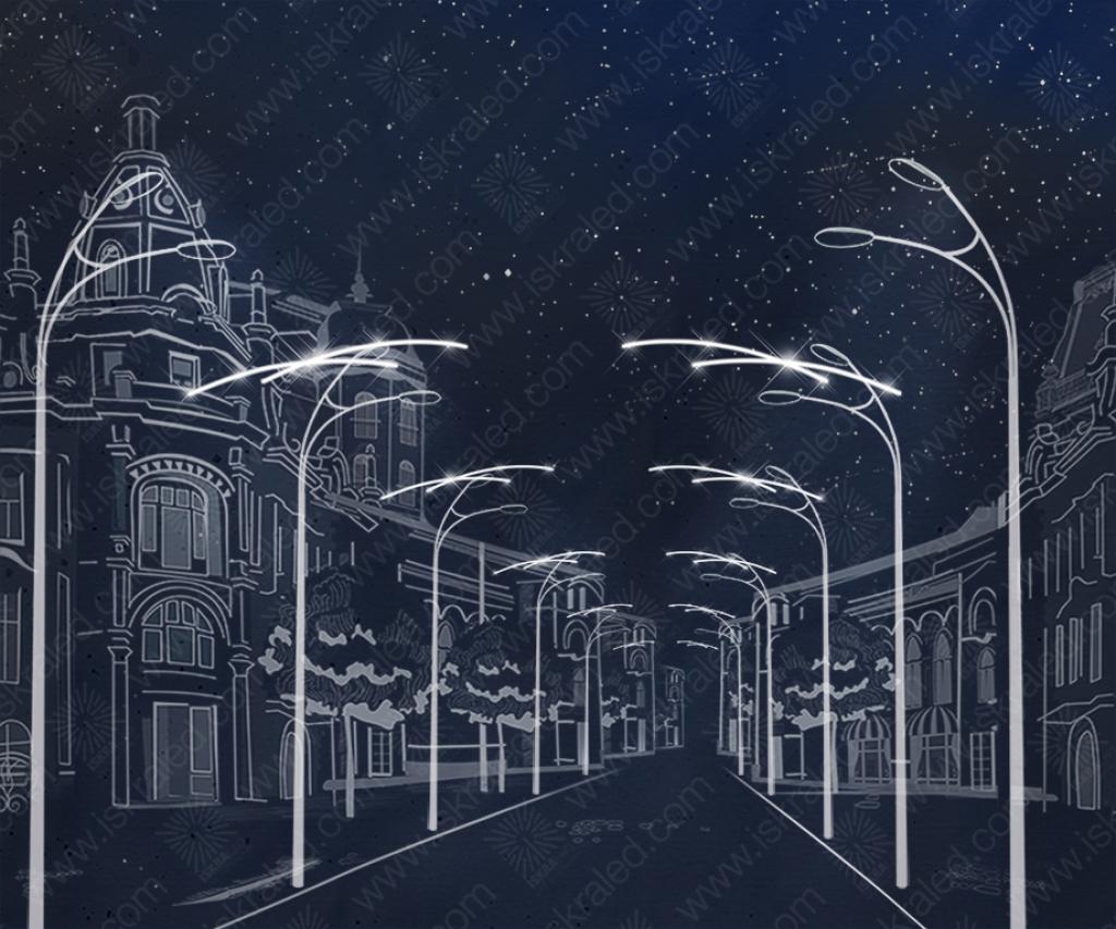 """Светодиодный подвес """"Штрихи в ночном небе"""" P134"""