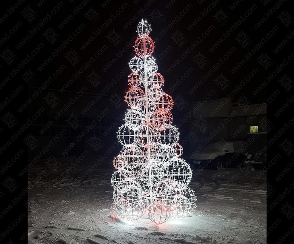 Светодиодная елка Шары
